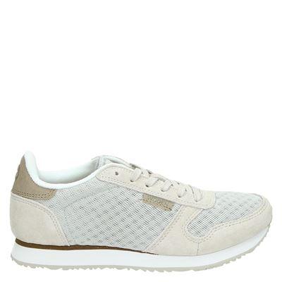 Woden dames lage sneakers grijs