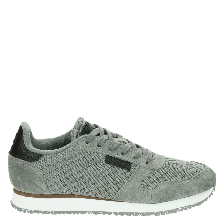 Woden Ydun dames lage sneakers grijs