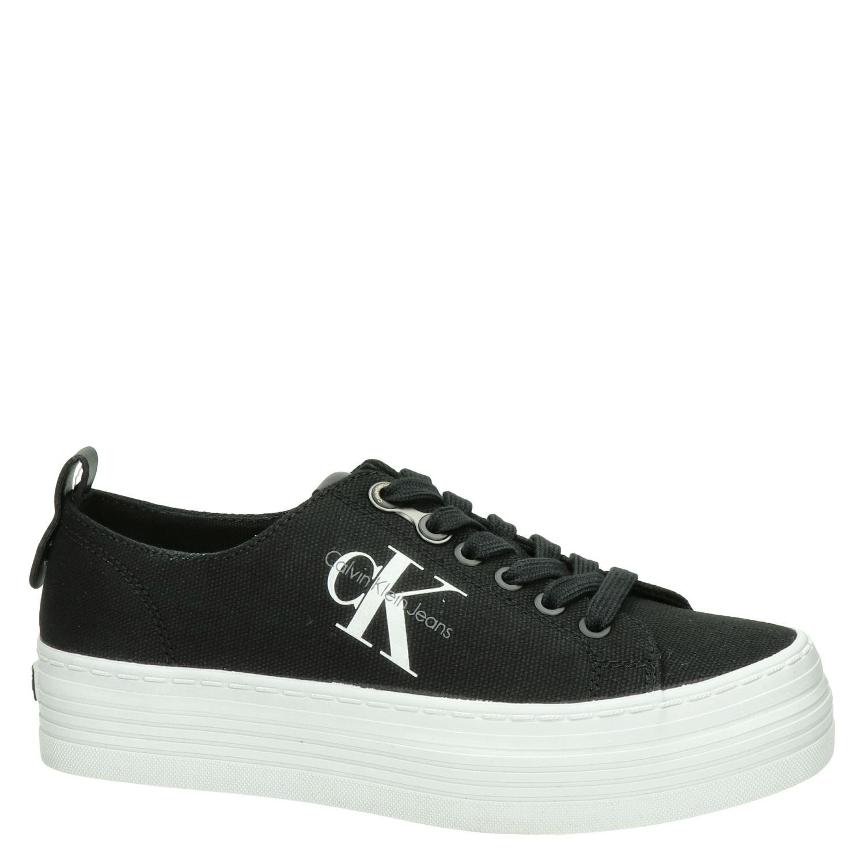 Calvin Klein Zolah - Platform sneakers voor dames - Zwart zU24eaf