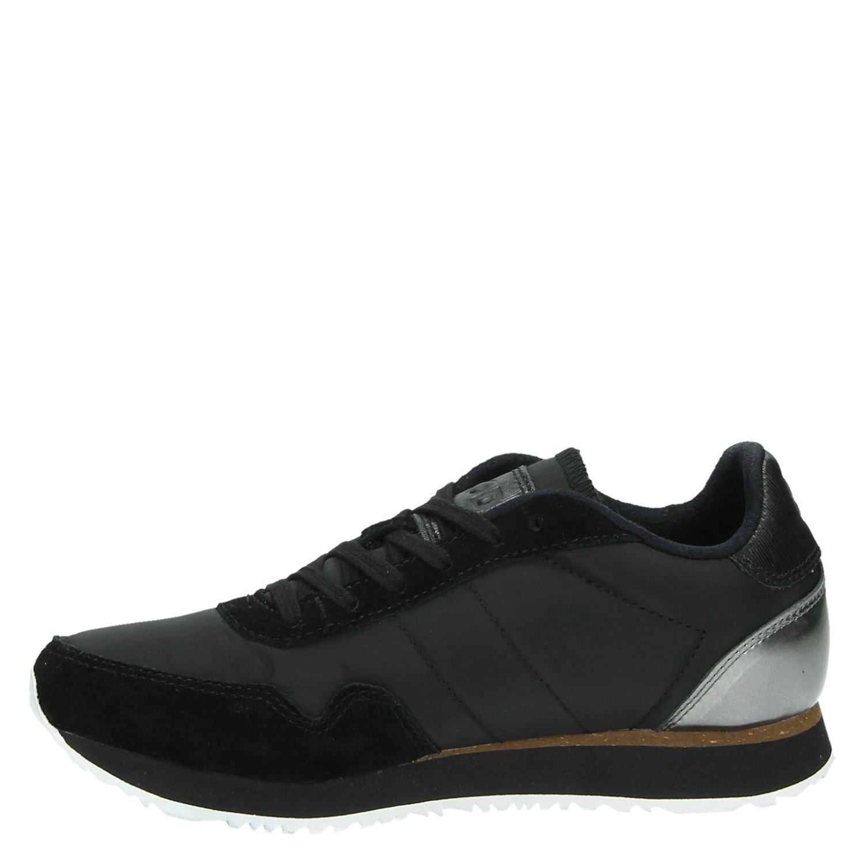 bfc45e145c6 Woden Nora II dames lage sneakers zwart