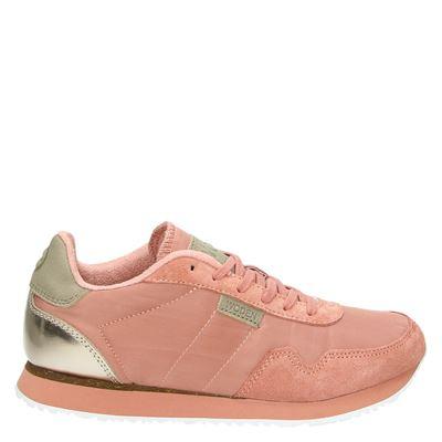 Woden dames lage sneakers roze