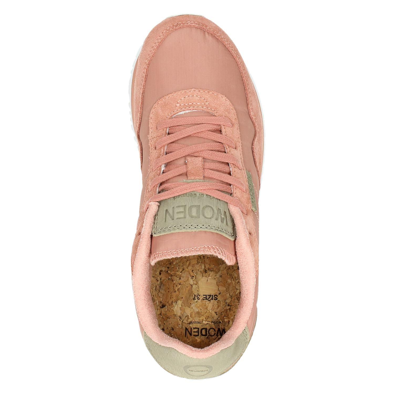 Woden Nora II dames lage sneakers roze
