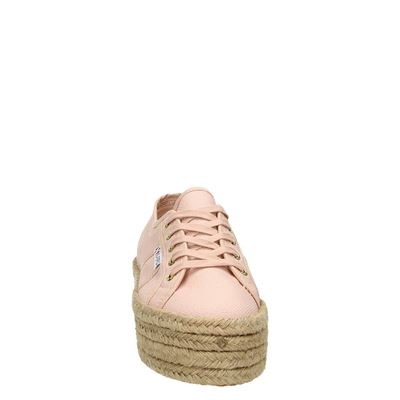 Superga dames veterschoenen Roze