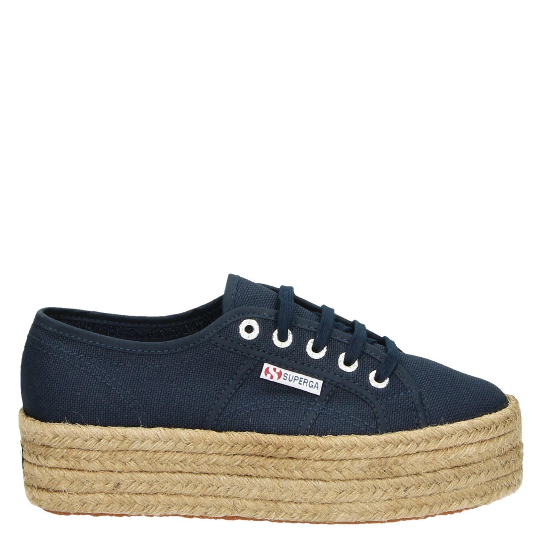6eaa377afaa Superga Cotropew platform - Platform sneakers - Blauw - Shoemixx.nl
