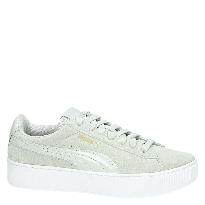 551717ec2e3 Puma Vikky Platform dames lage sneakers grijs