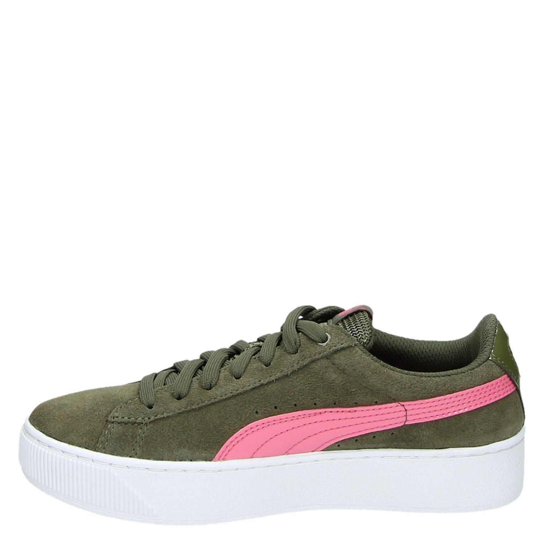 Pumas Femmes Plate-forme Vikky Sneaker D - Vert - 38 Eu taThx