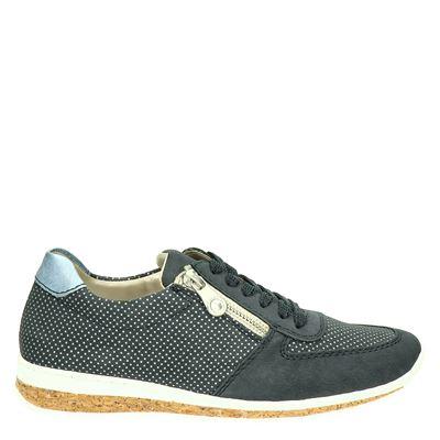 Rieker dames lage sneakers Blauw