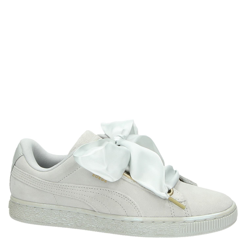 533c0c150cb Puma Suede Heart Satin dames lage sneakers grijs
