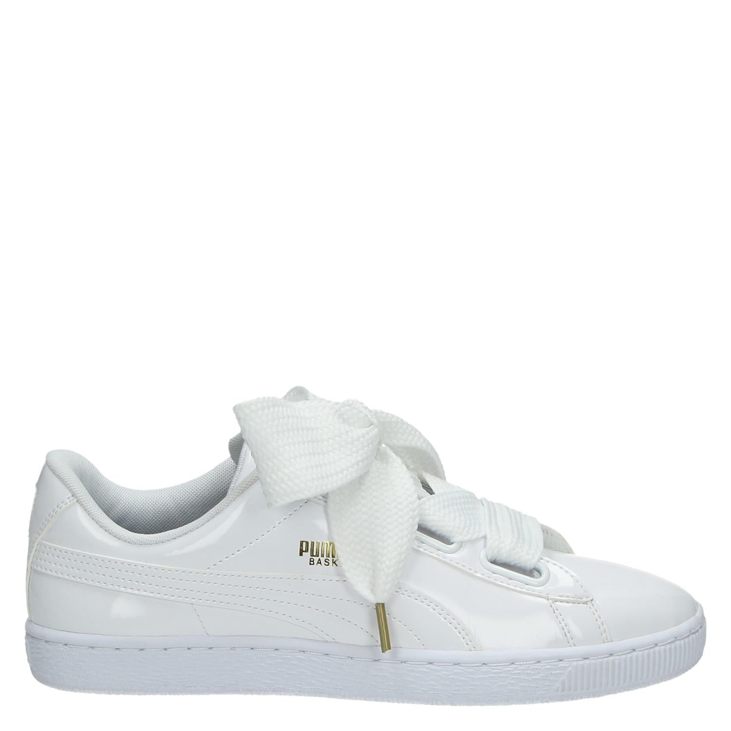 579bf30e923 Puma Basket Heart dames lage sneakers wit