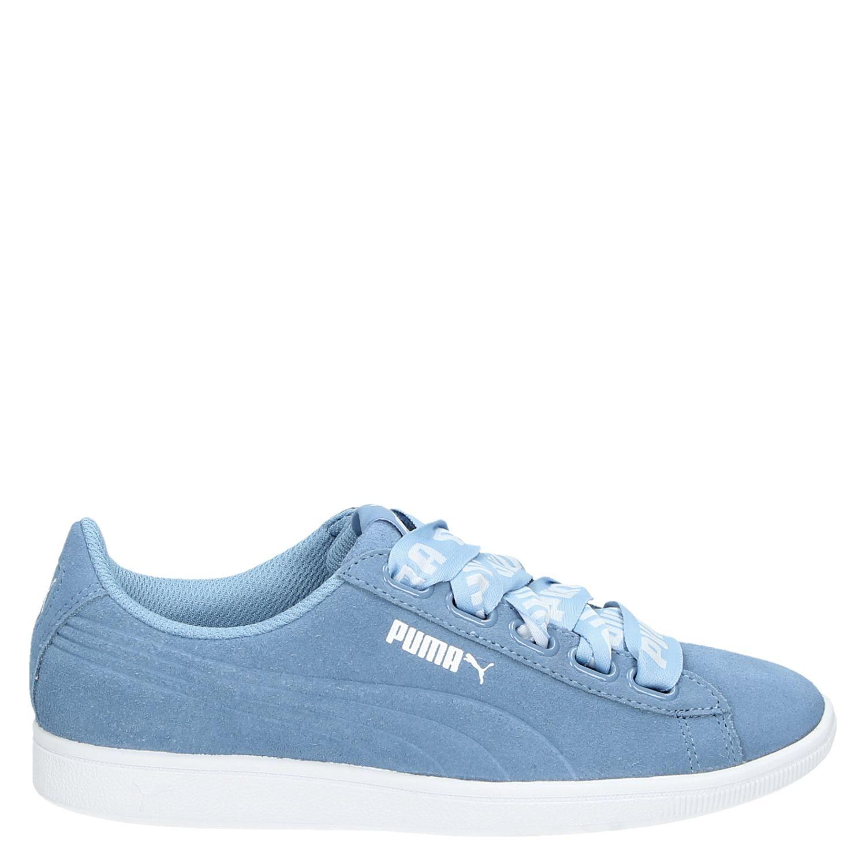 Puma Vikky Ribbon dames lage sneakers blauw