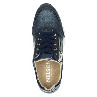 Nelson dames lage sneakers Blauw