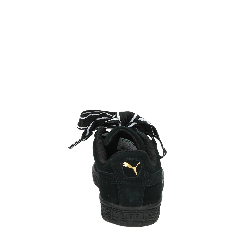 Puma Suede Heart Satin II dames lage sneakers zwart
