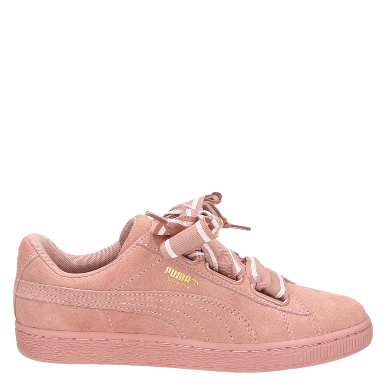 f8c9fd29841 Puma Suede Heart Satin II dames lage sneakers roze