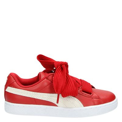 Puma dames lage sneakers rood
