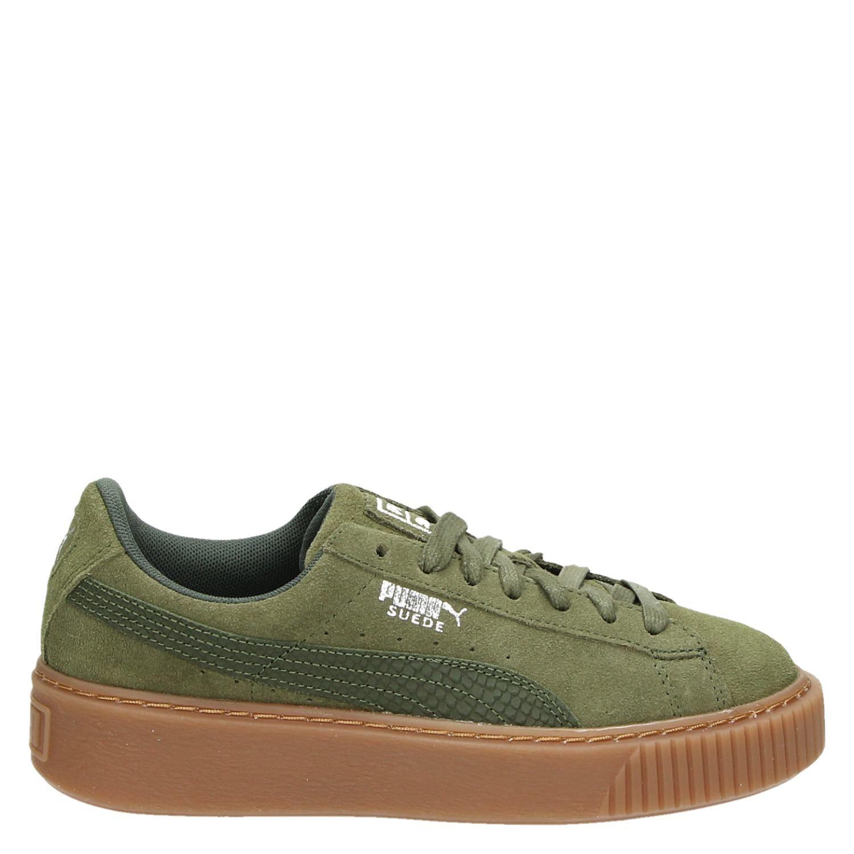 Pumas Femmes Plateforme Vikky Ven Sneaker - Vert - 36 Eu taV7i