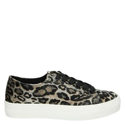 La Strada dames lage sneakers taupe