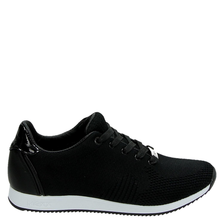 f1b60841242 Mexx Cato dames lage sneakers zwart