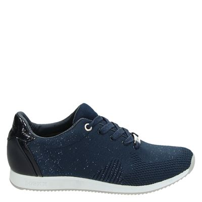 Mexx dames lage sneakers blauw