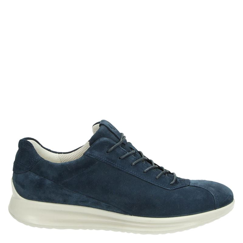 Ecco Aquet dames lage sneakers blauw