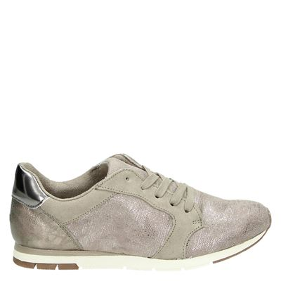 Tamaris dames sneakers taupe