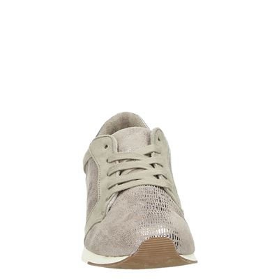 Tamaris dames lage sneakers Taupe