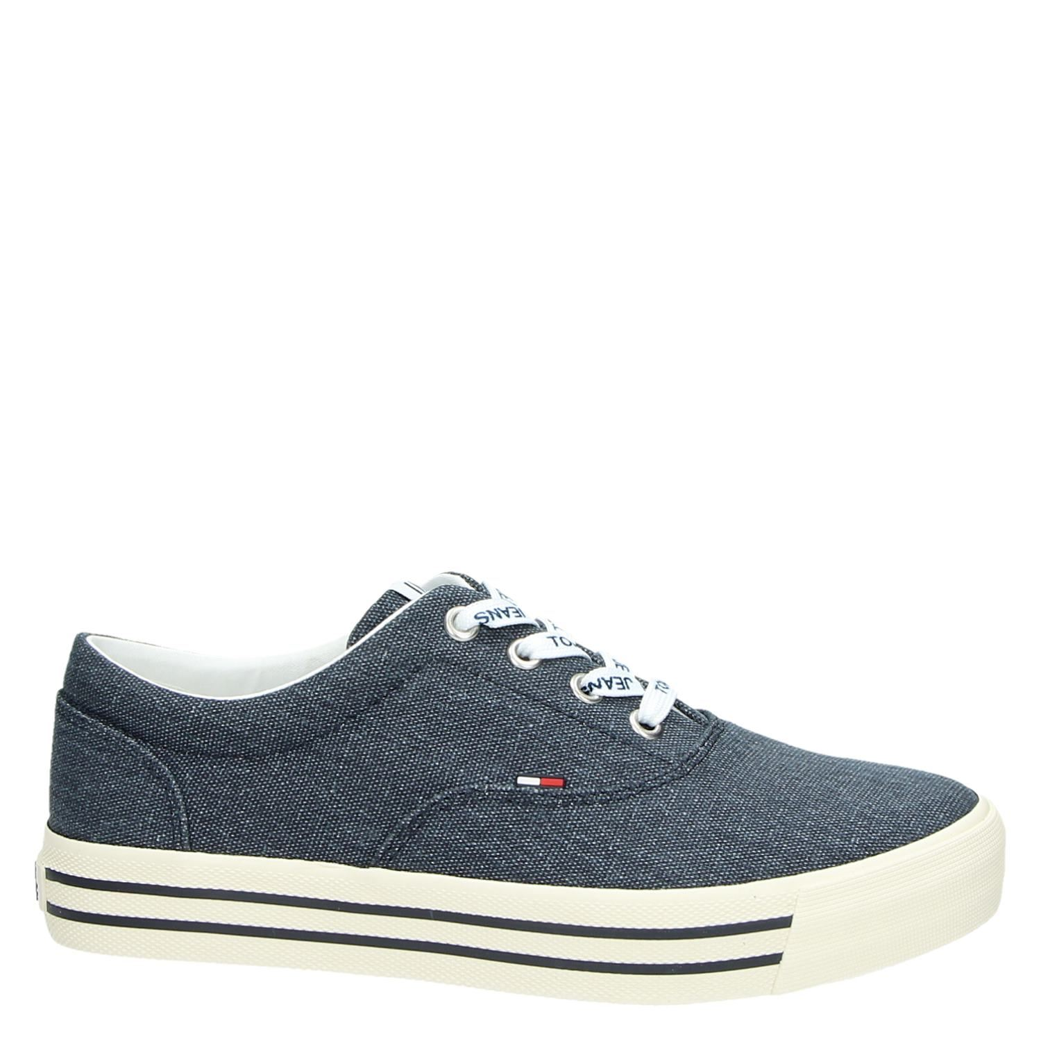 Sneakers Blauw Jeans Dames Lage Tommy AtngqIxt