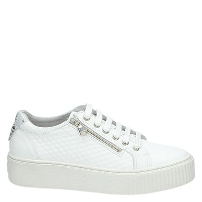 Nelson dames lage sneakers Wit
