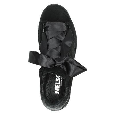 Nelson dames lage sneakers Zwart