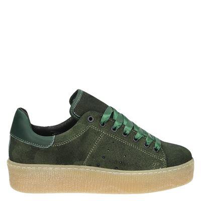 Nelson dames lage sneakers Groen