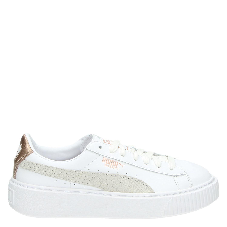 5f1ec35d964 Puma Basket Platform Core dames lage sneakers wit