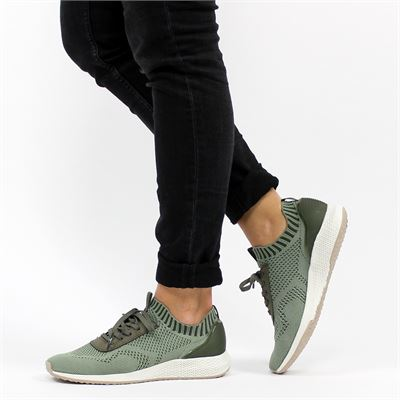 Tamaris dames sneakers kaki