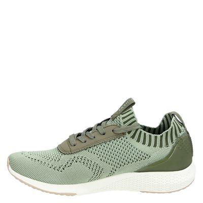 Tamaris dames hoge sneakers Groen