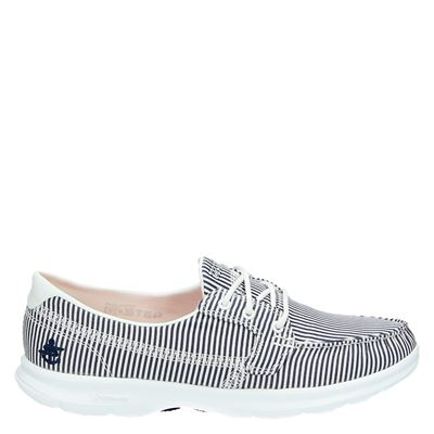 Skechers dames veterschoenen blauw