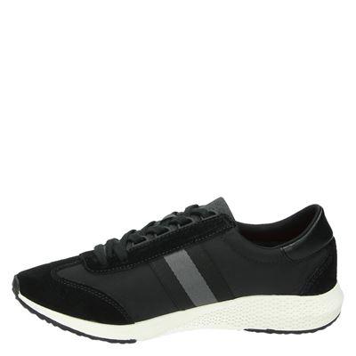 Tamaris dames lage sneakers Zwart