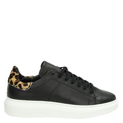Tango dames platform sneakers zwart