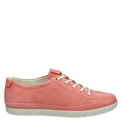 Ecco dames veterschoenen roze