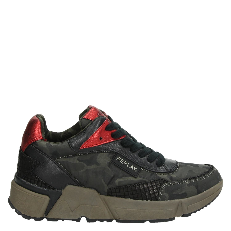 Replay Sparta lage sneakers groen