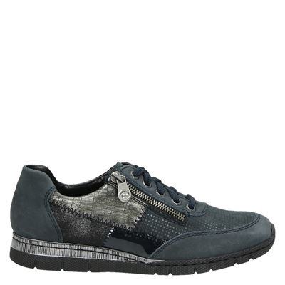 Rieker dames sneakers blauw