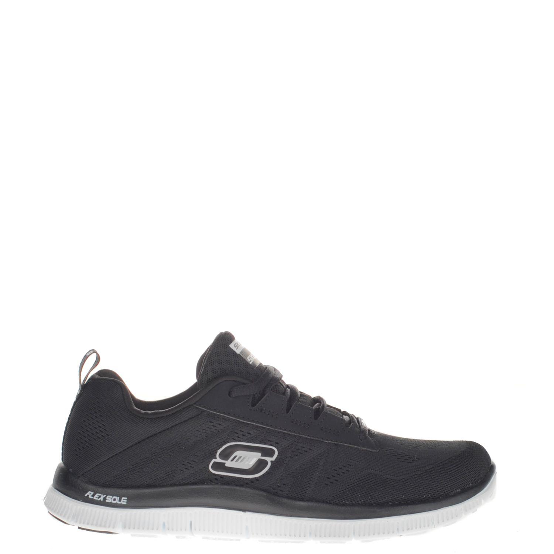 0649b62d136 Skechers Flex Appeal dames lage sneakers zwart