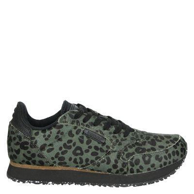 Woden dames lage sneakers groen