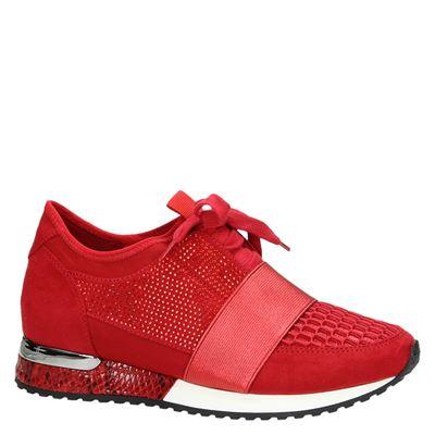 La Strada dames lage sneakers Rood