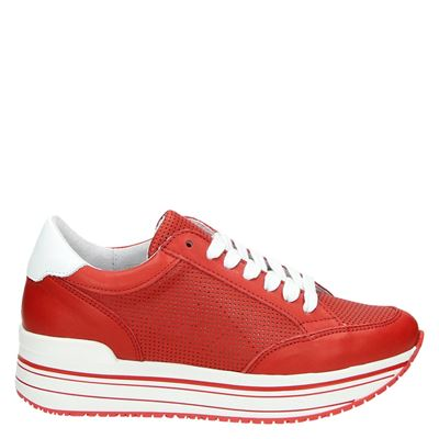 Nelson dames sneakers rood
