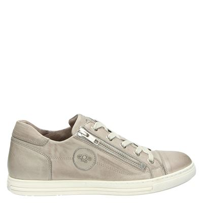Aqa dames sneakers taupe