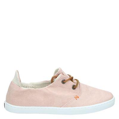 Hub dames veterschoenen roze