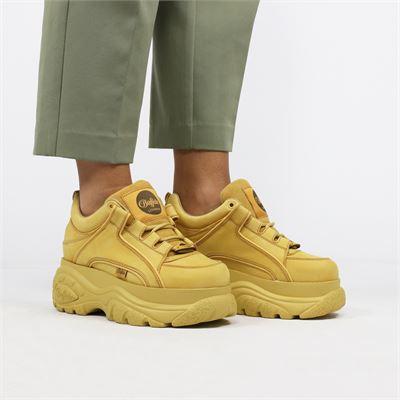 Buffalo dames sneakers geel