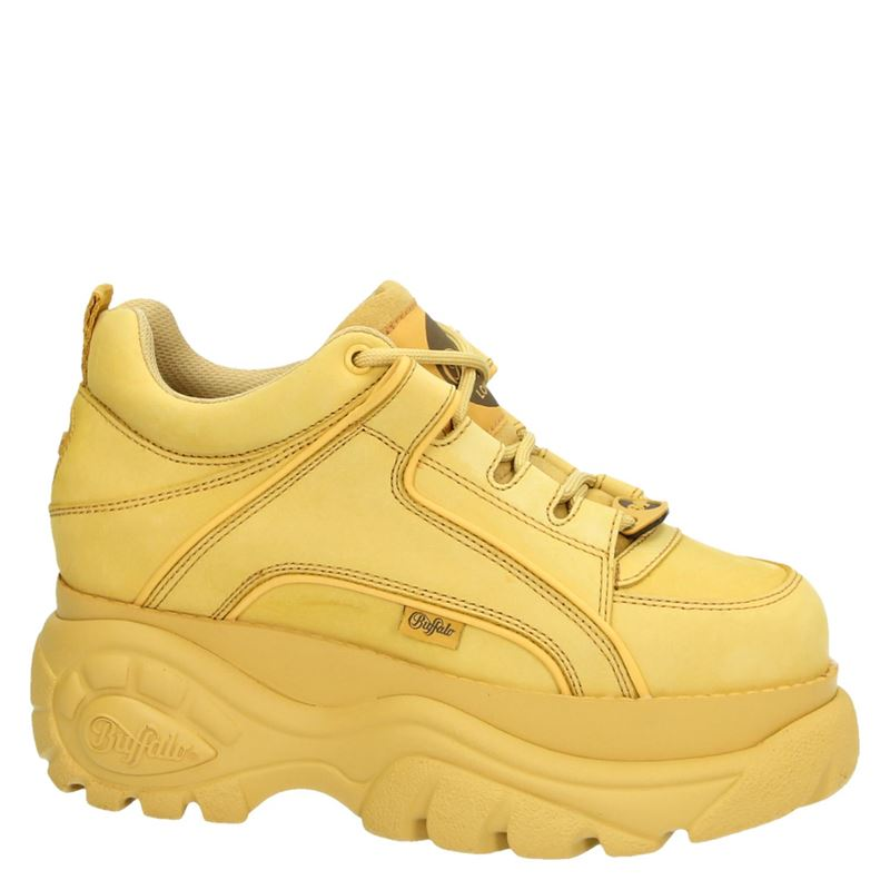 Buffalo Classics Low - Dad Sneakers - Geel