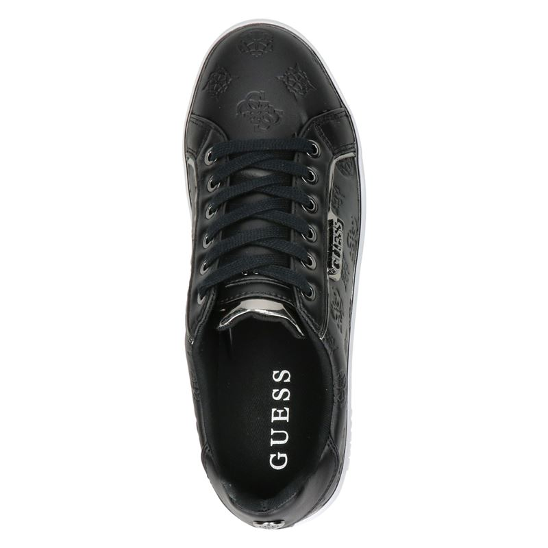 Guess Banq - Lage sneakers - Zwart