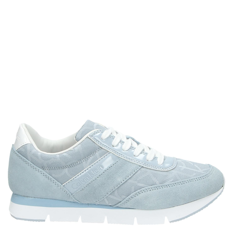 412f3d72b93 Calvin Klein Tea dames lage sneakers blauw