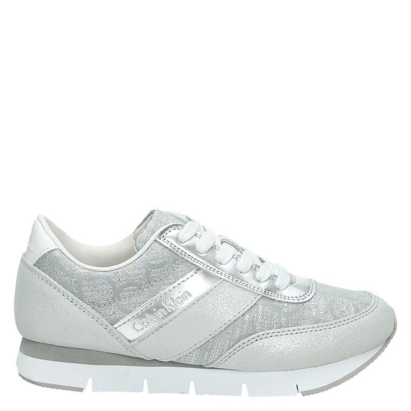 Calvin Klein Tea - Lage sneakers - Zilver