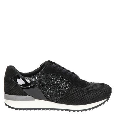 Hobb's dames lage sneakers zwart
